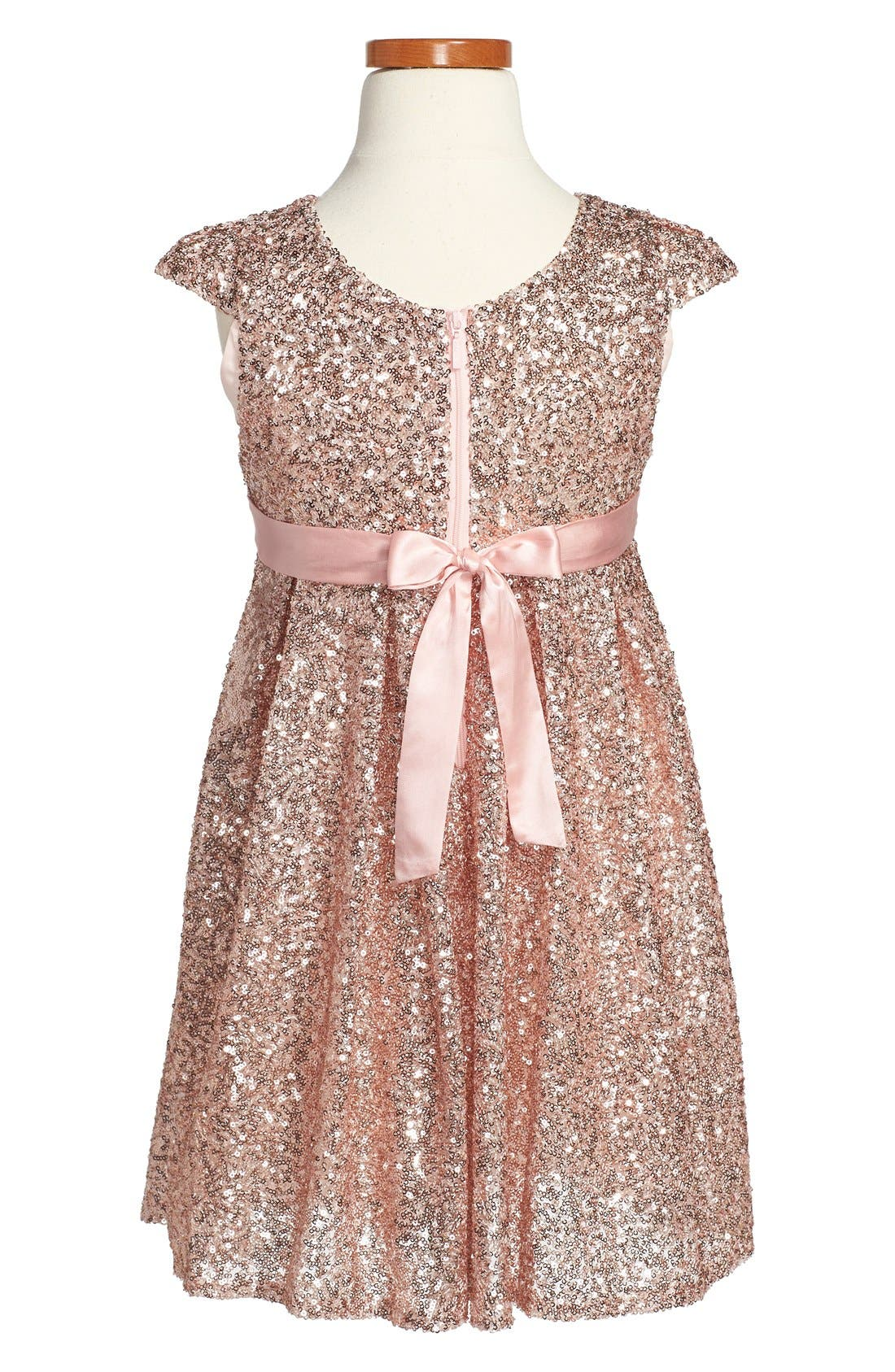Alternate Image 2  - ilovegorgeous 'Moon Festival' Sequin Dress (Toddler Girls & Little Girls)