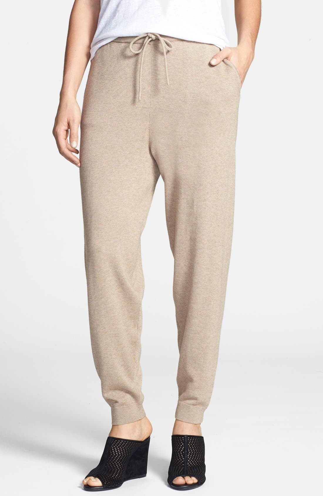 Alternate Image 1 Selected - Eileen Fisher The Fisher Project Slouchy Cotton & Cashmere Knit Ankle Pants