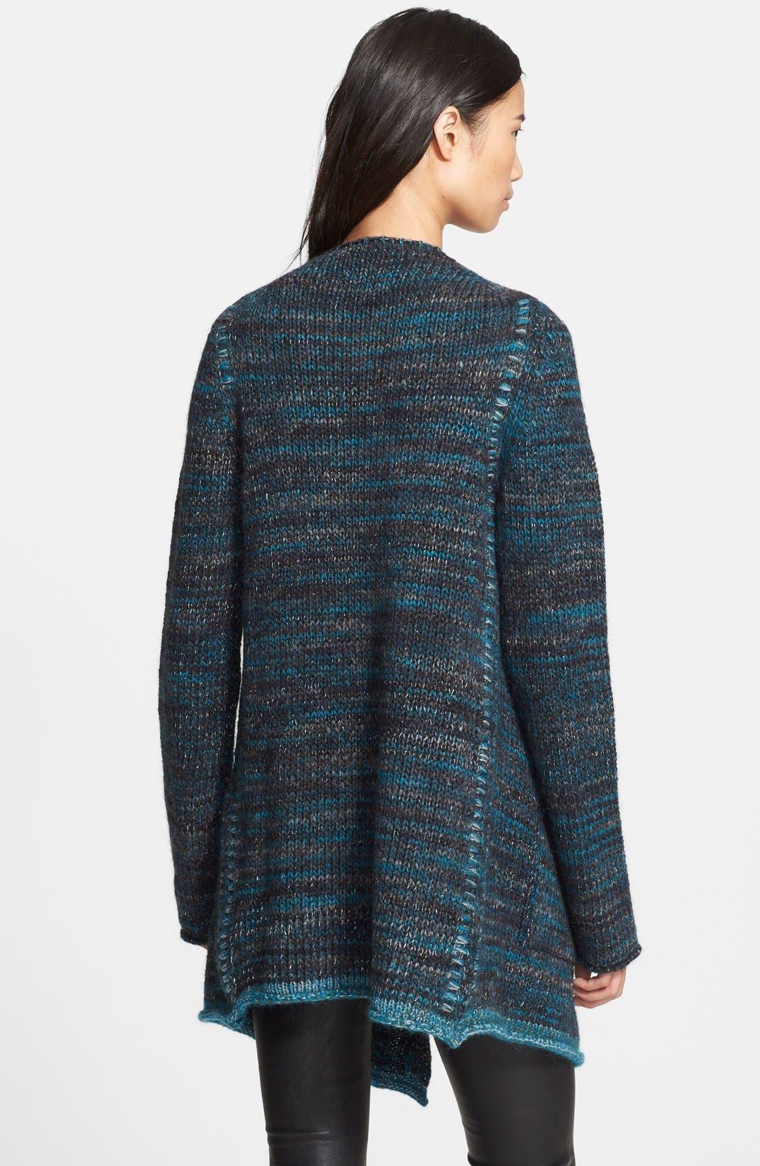 Alternate Image 2  - Zadig & Voltaire 'Daphnee' Drape Wool Blend Cardigan