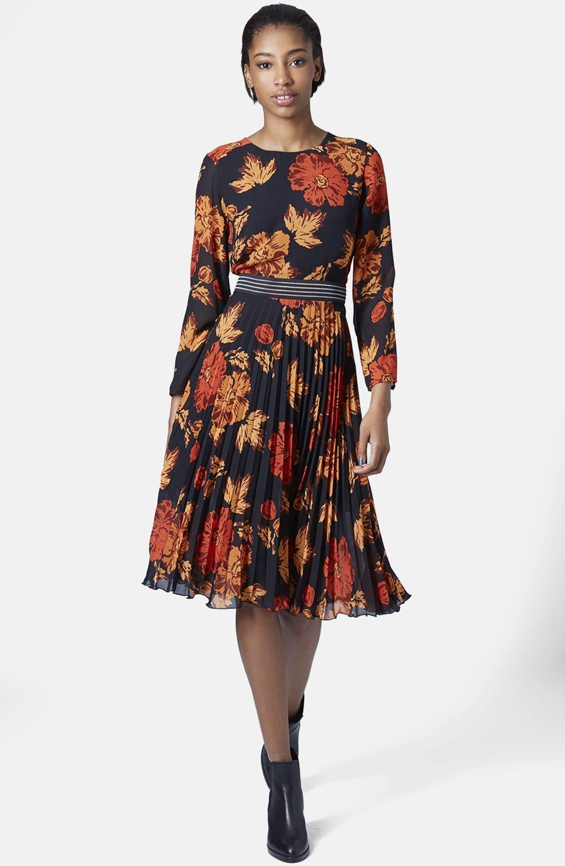 Alternate Image 5  - Topshop 'Bloomsbury' Floral Print Midi Dress