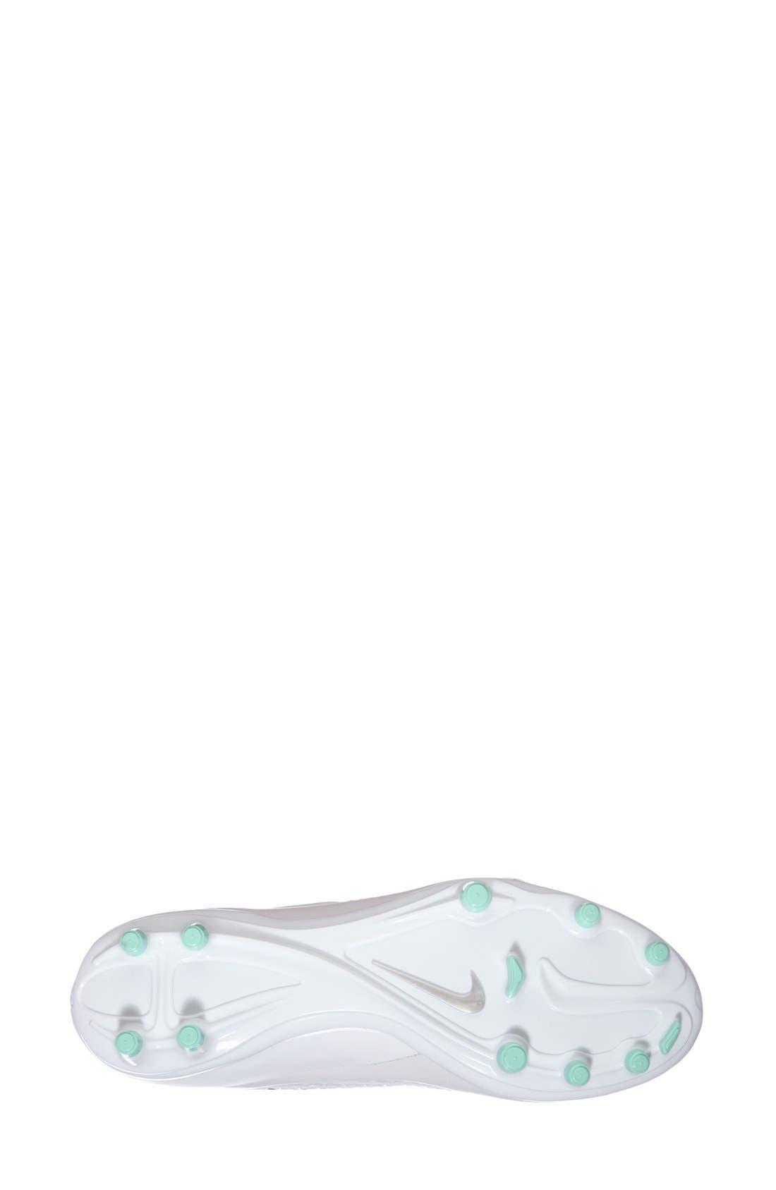 Alternate Image 4  - Nike 'Hypervenom Phelon' Firm Ground Soccer Cleat (Women)