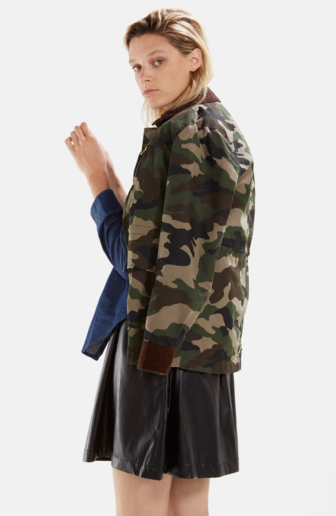 Alternate Image 3  - izzue Hooded Camouflage Jacket (Women)