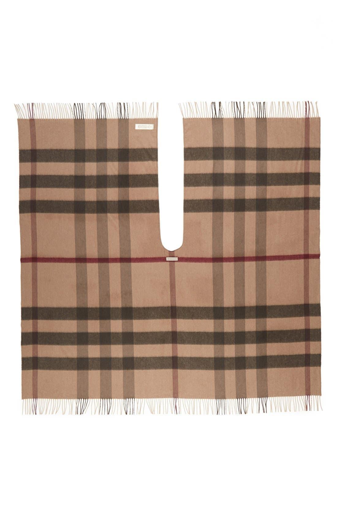Alternate Image 2  - Burberry Check Print Wool & Cashmere Cape