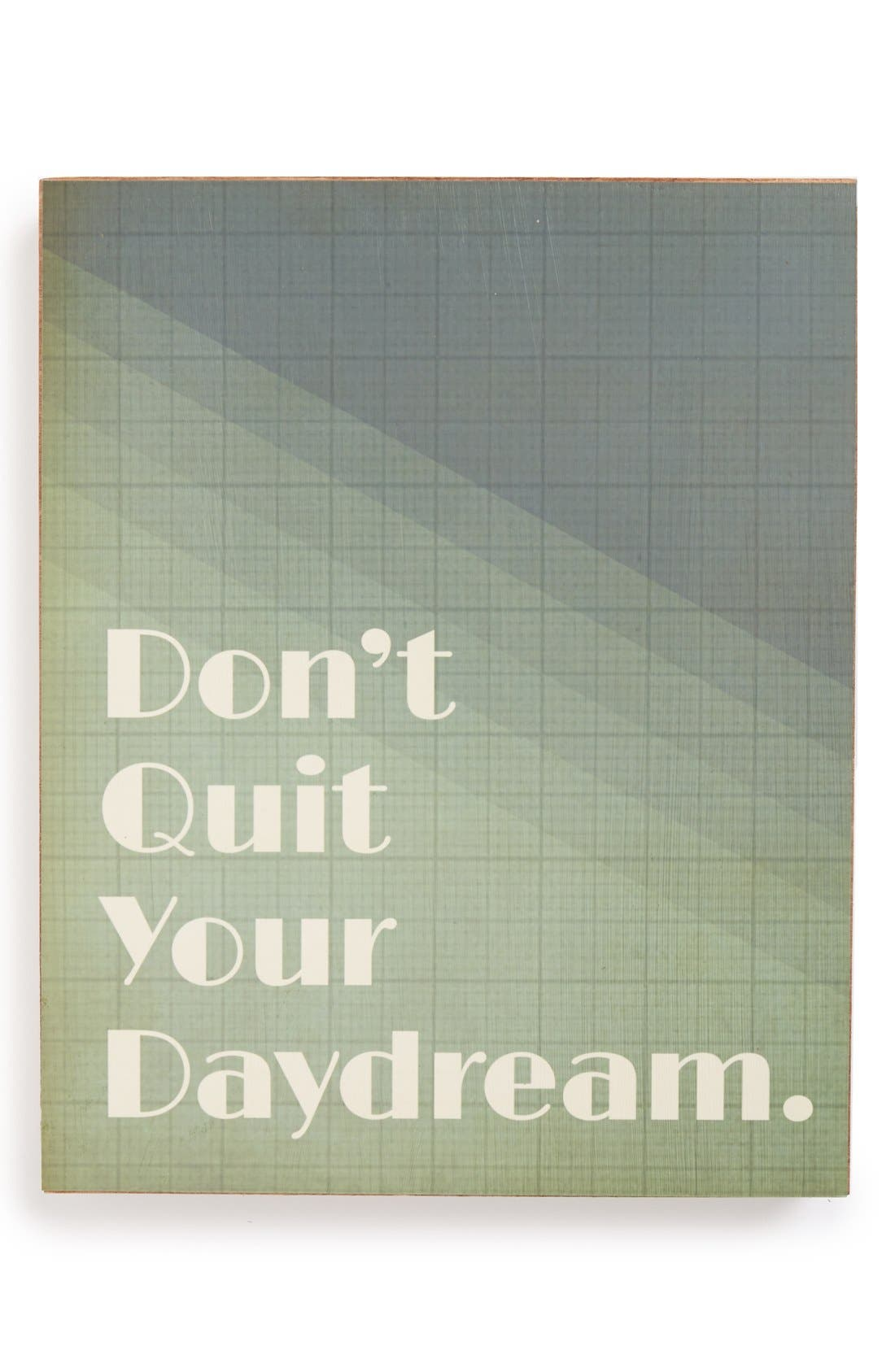 Alternate Image 1 Selected - Lucius Designs 'Don't Quit Your Daydream' Wall Art