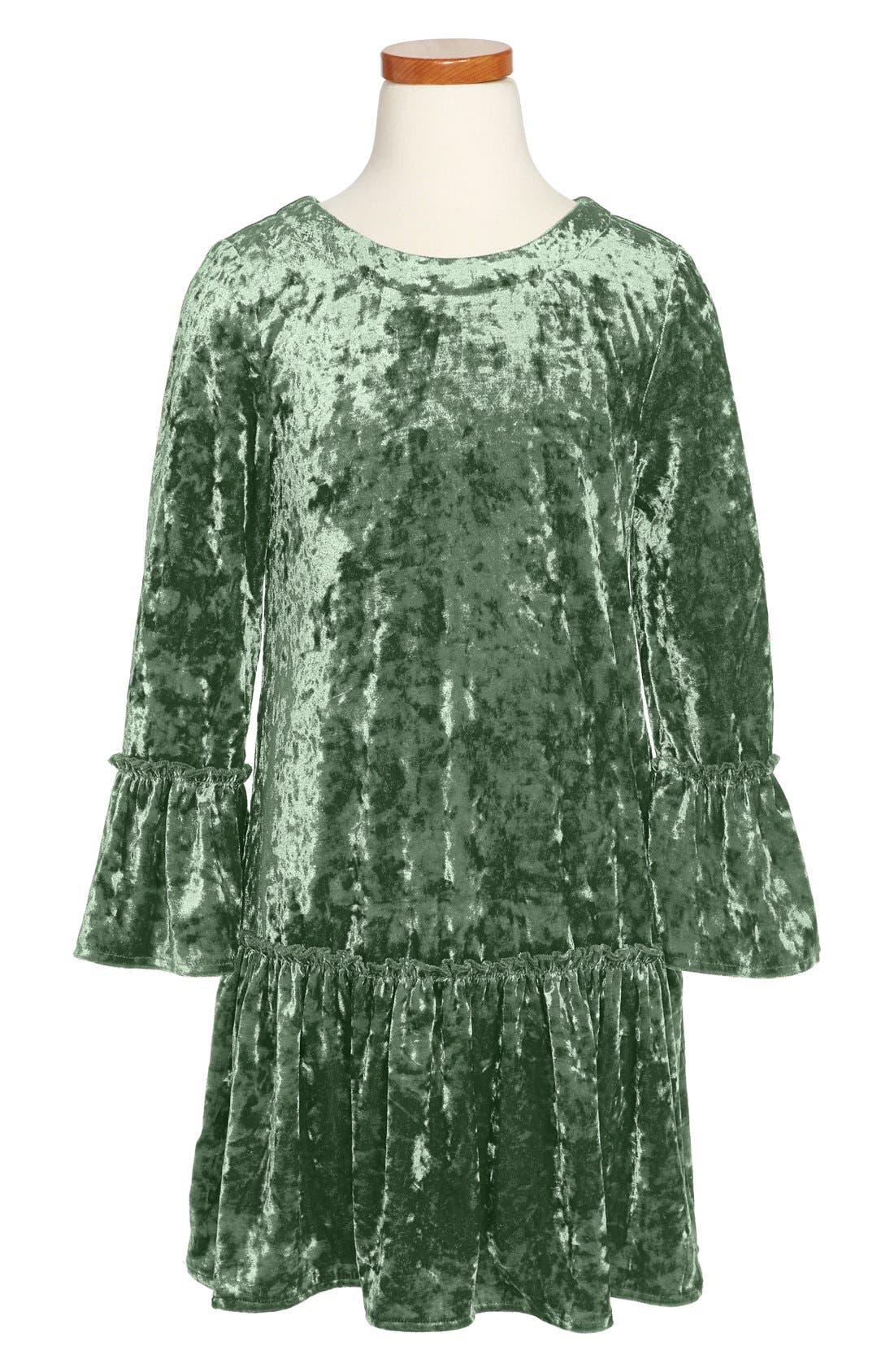 Alternate Image 1 Selected - Peek 'Anastasia' Crushed Velvet Dress (Toddler Girls, Little Girls & Big Girls)
