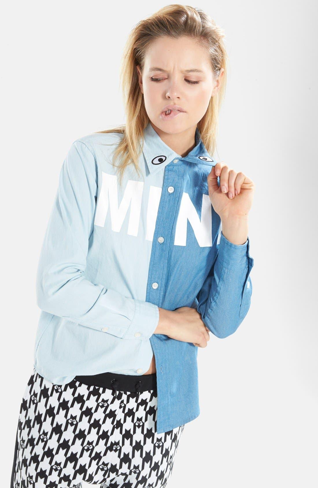 Alternate Image 2  - Mini Cream 'Mini Wish' Two-Tone Chambray Shirt (Women)