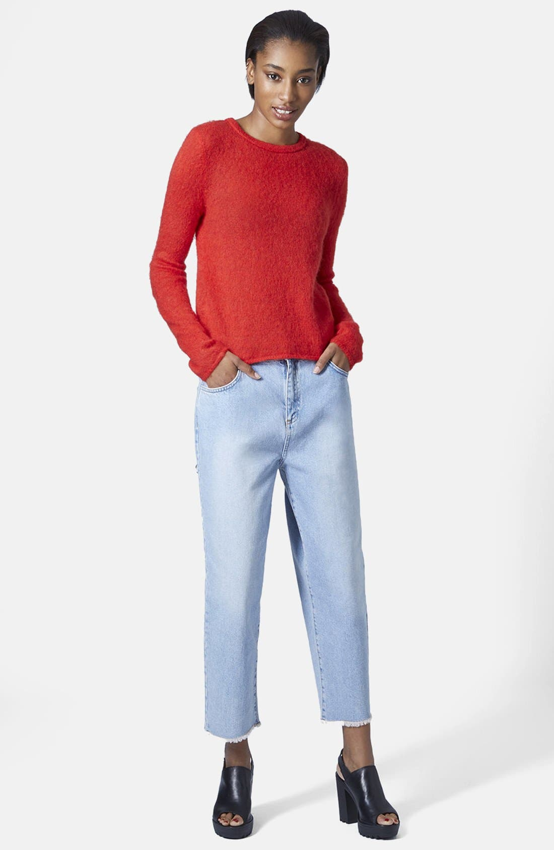 Alternate Image 5  - Topshop Boutique Fluorescent Fluffy Sweater