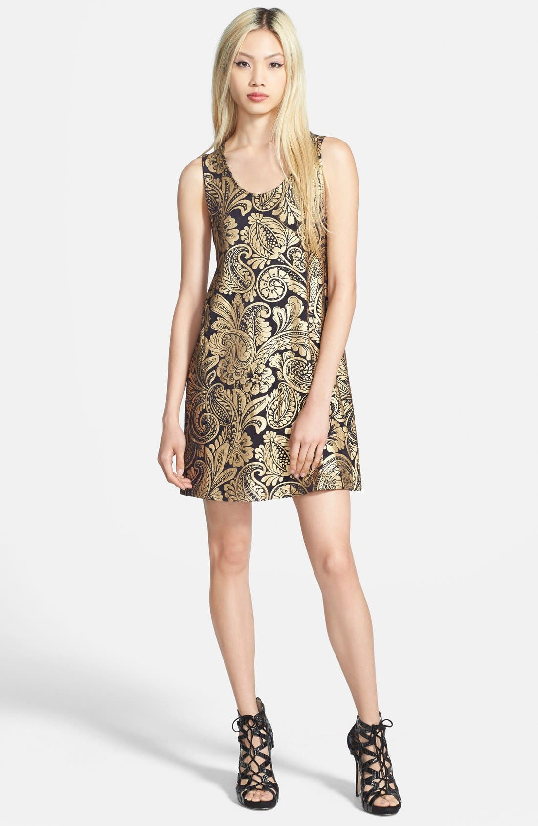 Alternate Image 1 Selected - MINKPINK 'Parisian Gold' Swing Dress