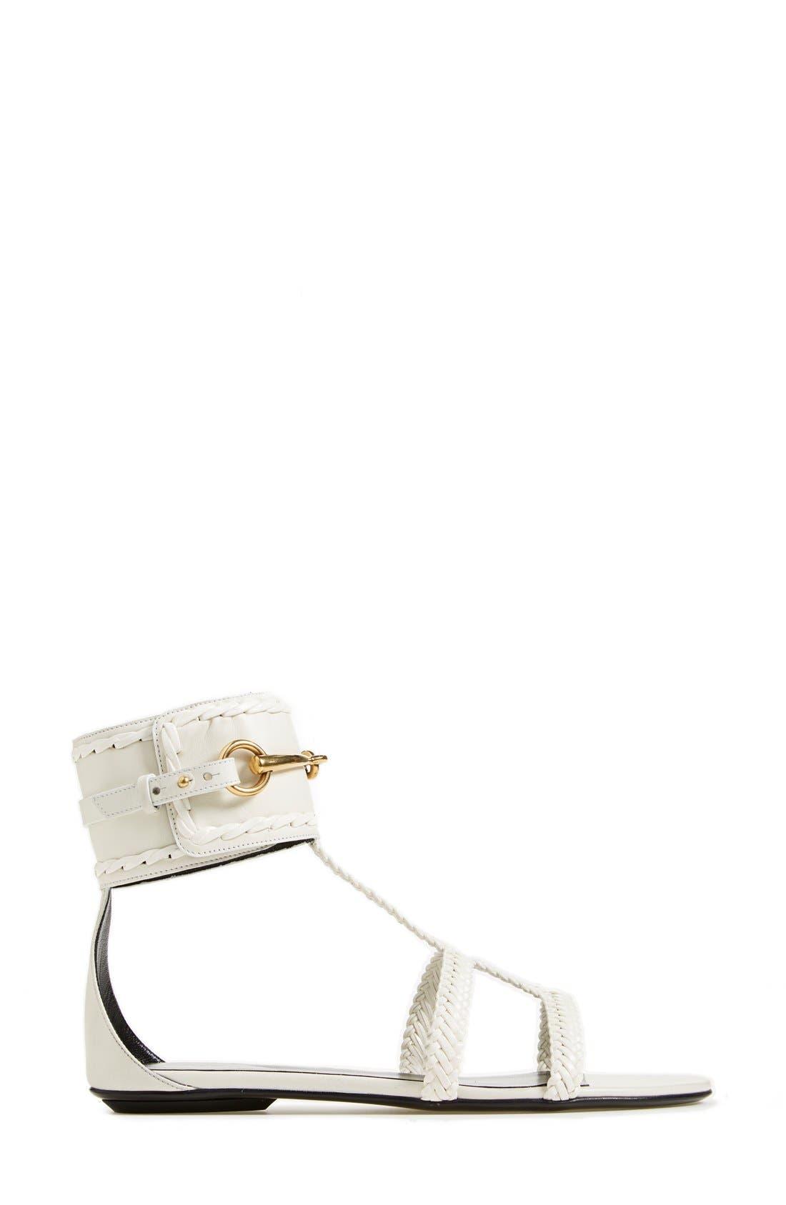 Alternate Image 4  - Gucci 'Ursula' Braided Flat Sandal (Women)