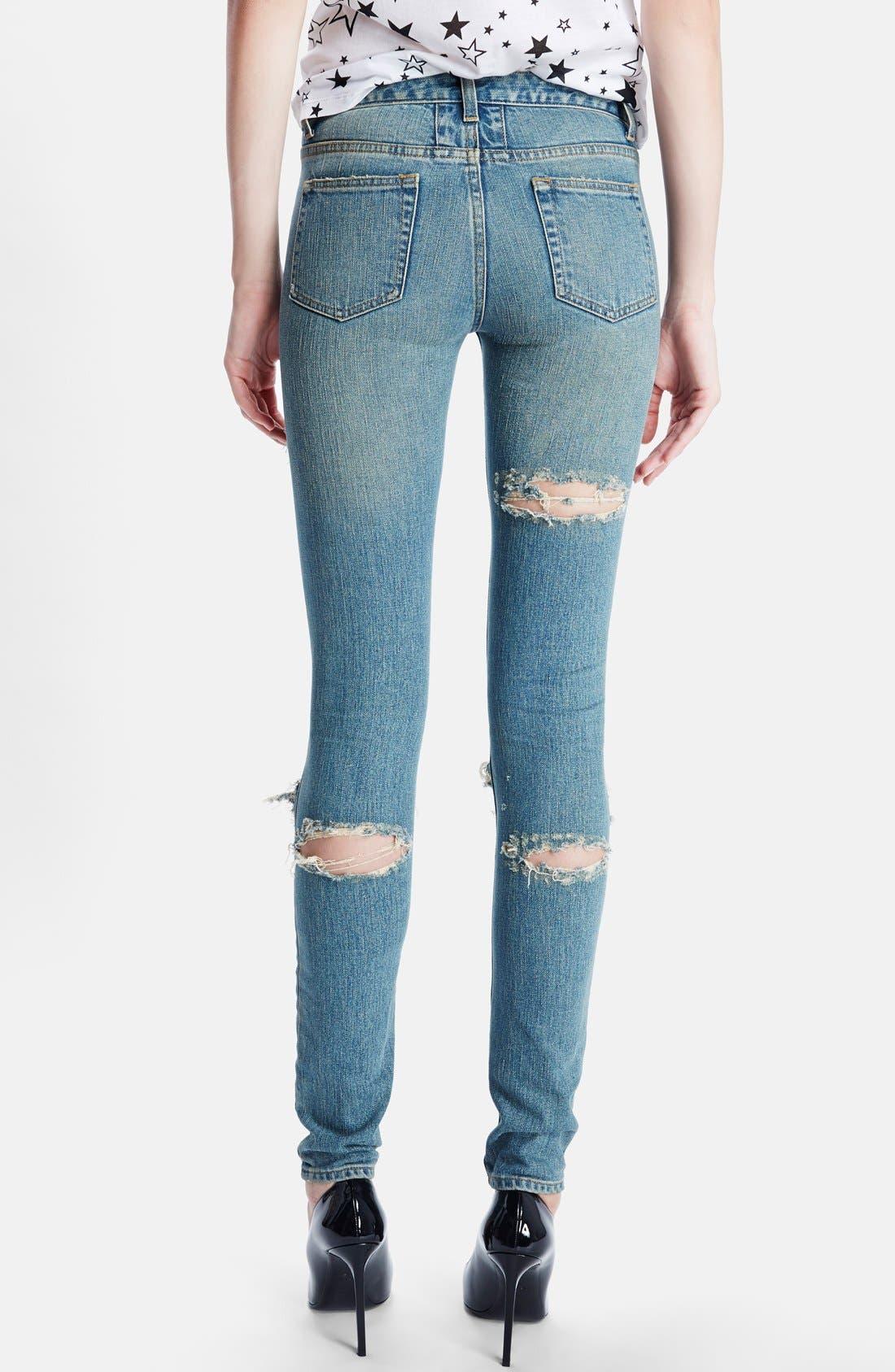 Alternate Image 2  - Saint Laurent 'Dirty 50s' Destroyed Skinny Jeans