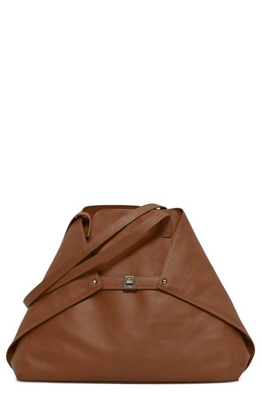 Alternate Image 1 Selected - Akris 'Ai Medium Shoulder Tote' Leather Tote