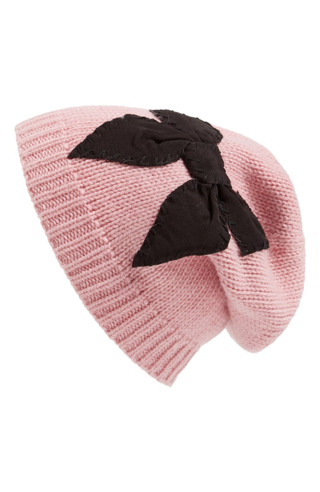 Alternate Image 1 Selected - kate spade new york stitched bow slouched beanie