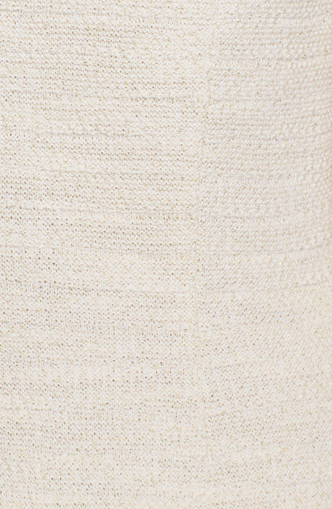 Alternate Image 3  - St. John Collection Sparkle Shantung Knit Dress