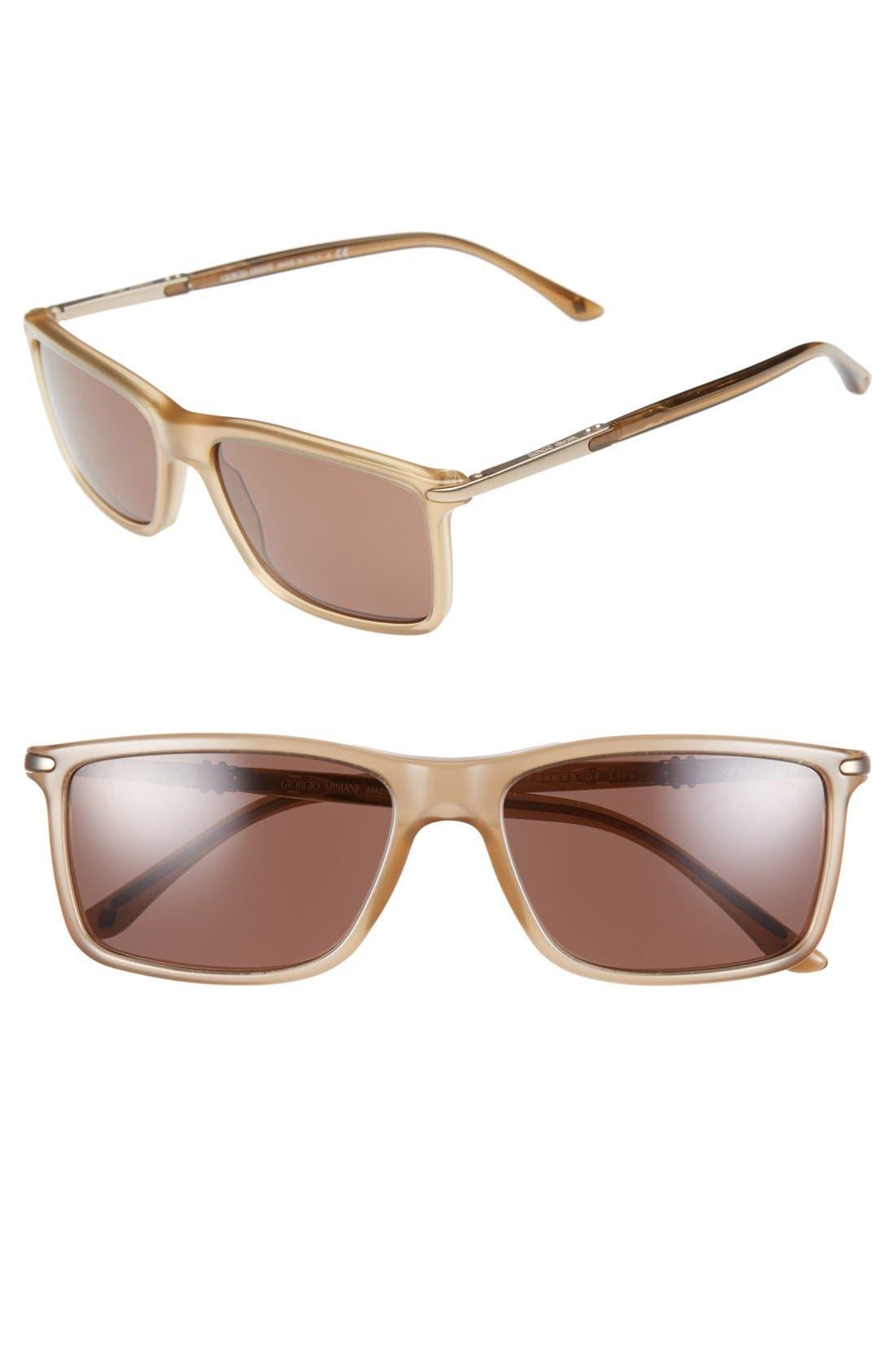 Alternate Image 1 Selected - Giorgio Armani 55mm Sunglasses