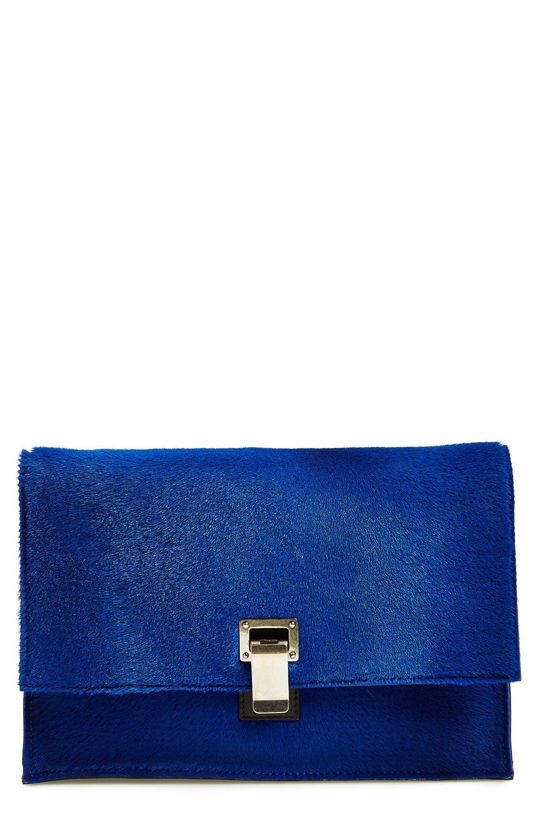 Main Image - Proenza Schouler 'Lunch Bag - Small' Shearling & Leather Clutch