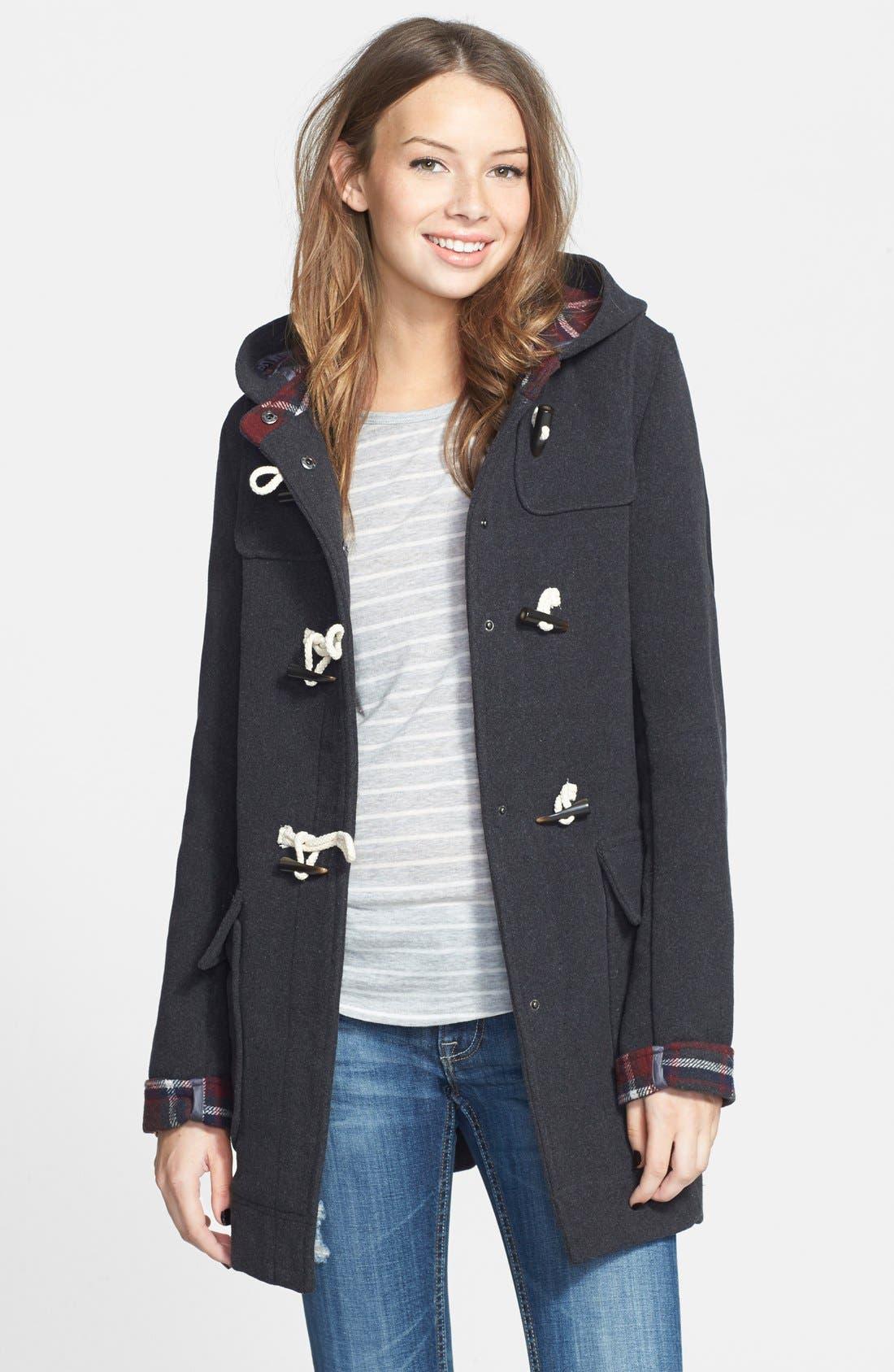 Main Image - Thread & Supply Hooded Toggle Coat (Juniors)