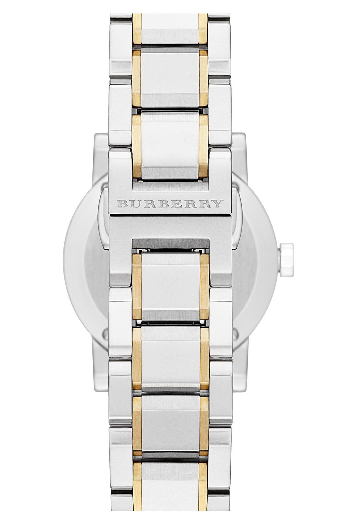 Alternate Image 2  - Burberry Small Check Stamped Bracelet Watch, 26mm