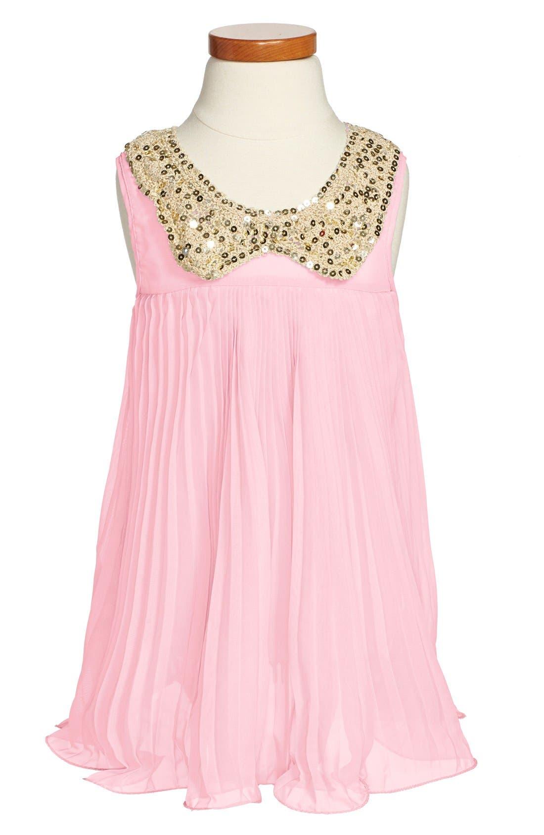 Main Image - Popatu Pleated Sleeveless Dress (Toddler Girls & Little Girls)