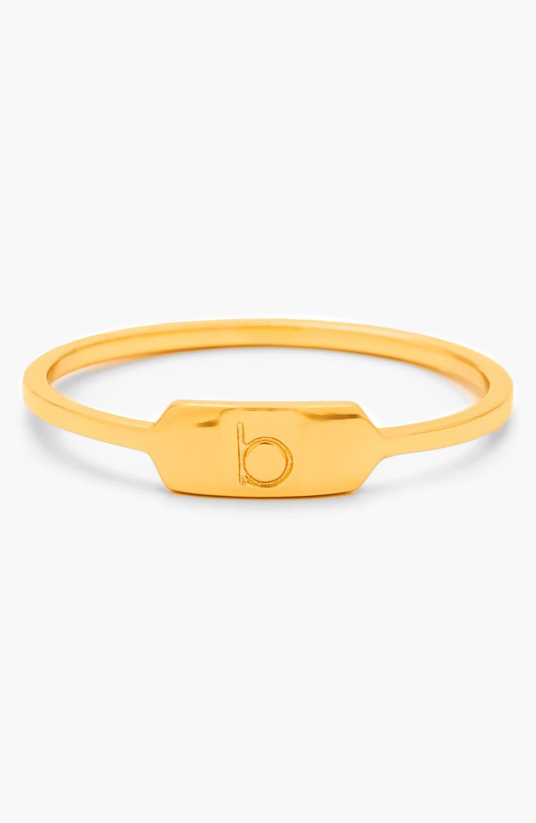 Main Image - gorjana 'Letterpress' Initial Ring
