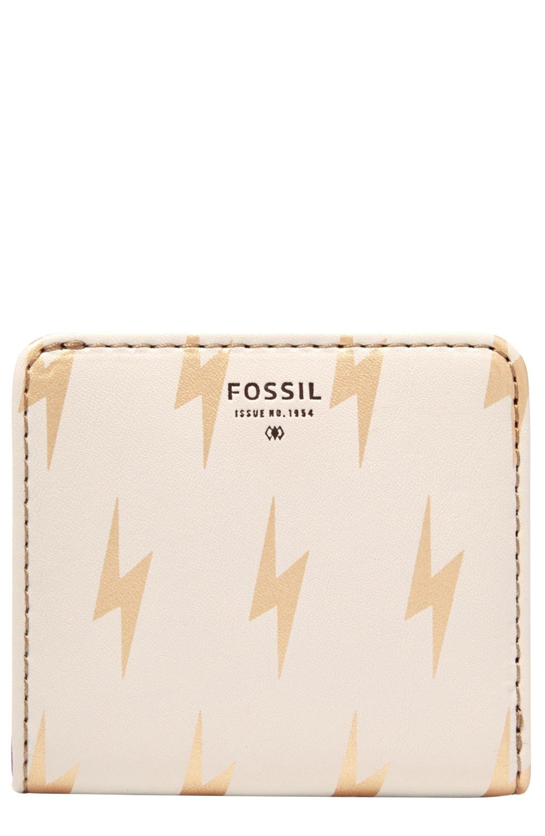 Main Image - Fossil Print Bifold Wallet