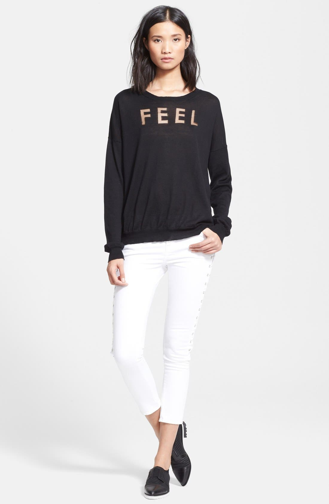 Alternate Image 3  - EACH X OTHER 'Feel' Burnout Sweater