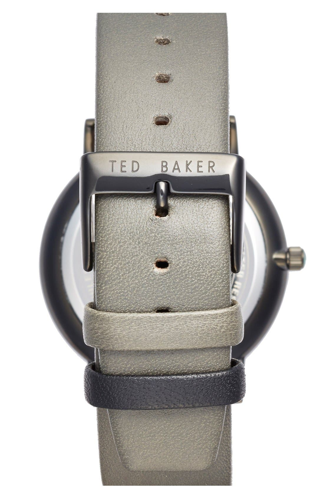 Alternate Image 2  - Ted Baker London Multifunction Leather Strap Watch, 40mm