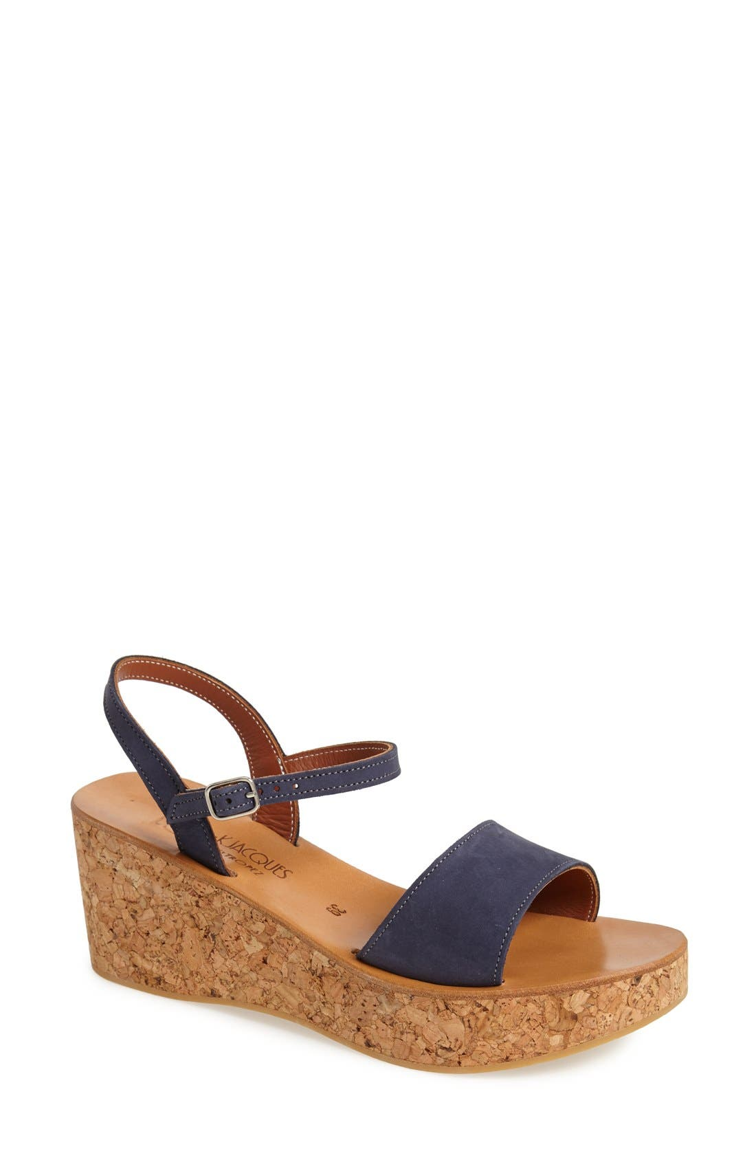 Alternate Image 1 Selected - K.Jacques St. Tropez Ankle Strap Wedge Sandal (Women)