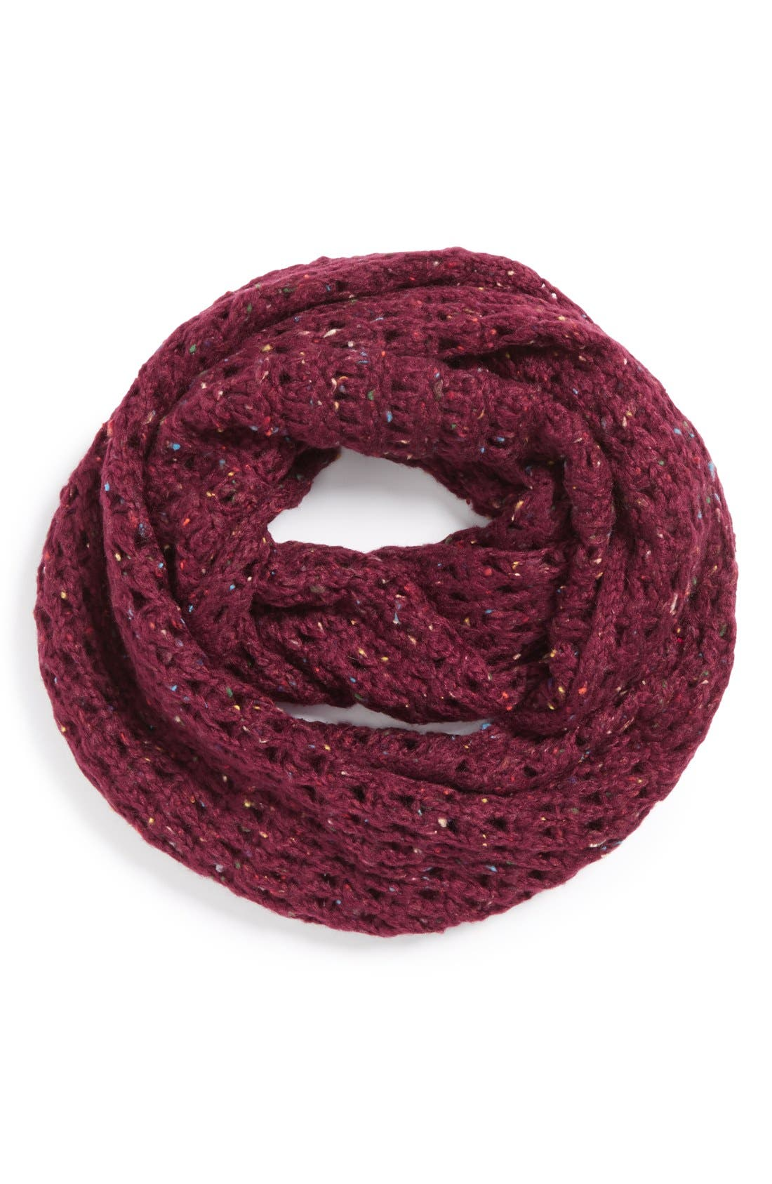 Main Image - BP. Speckled Knit Infinity Scarf (Juniors)