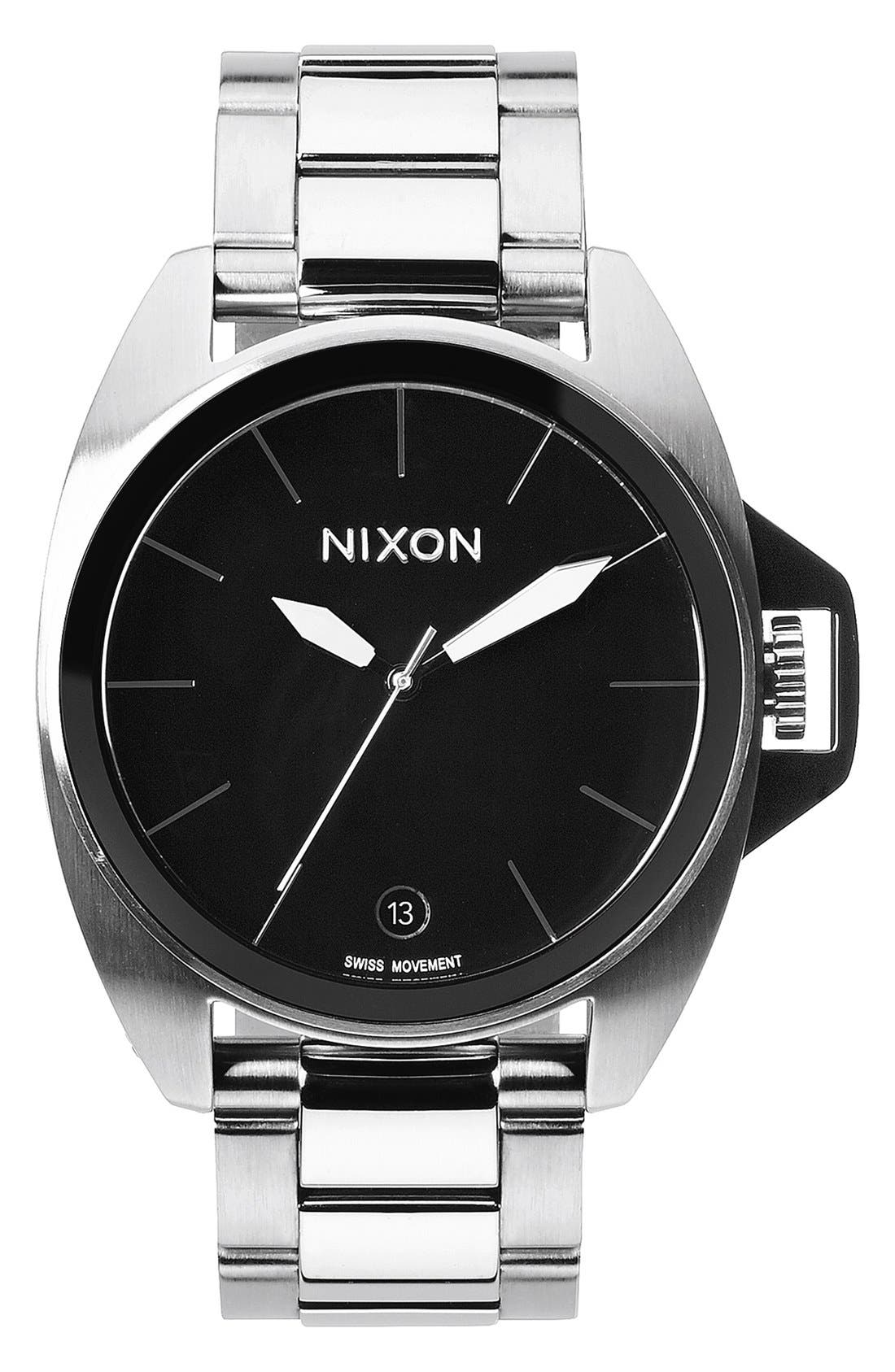 Alternate Image 1 Selected - Nixon 'Anthem' Black Bracelet Watch, 43mm