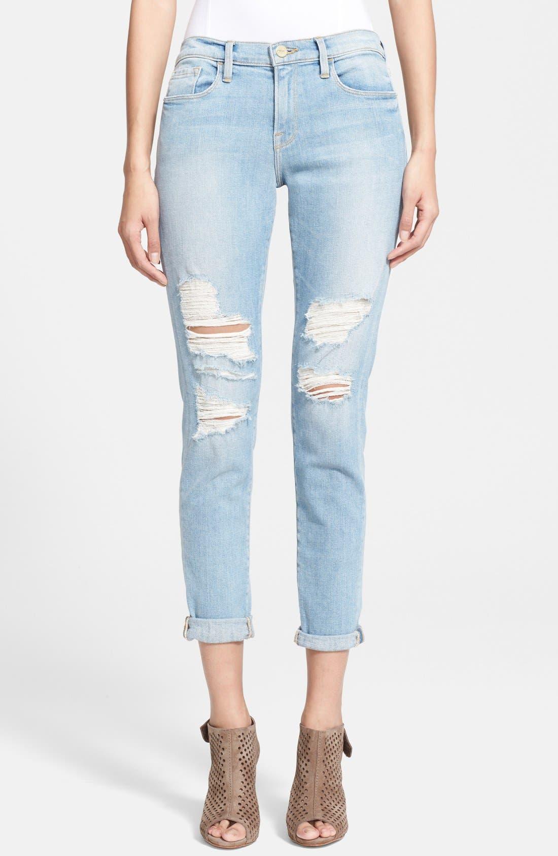 Main Image - Frame Denim 'Le Garcon' Boyfriend Jeans (Lucielle)