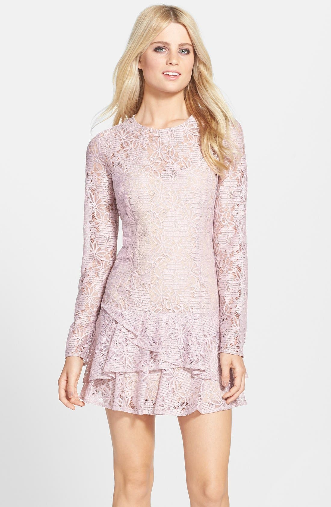 Alternate Image 1 Selected - BCBGMAXAZRIA 'Lysa' Drop Waist Lace Dress