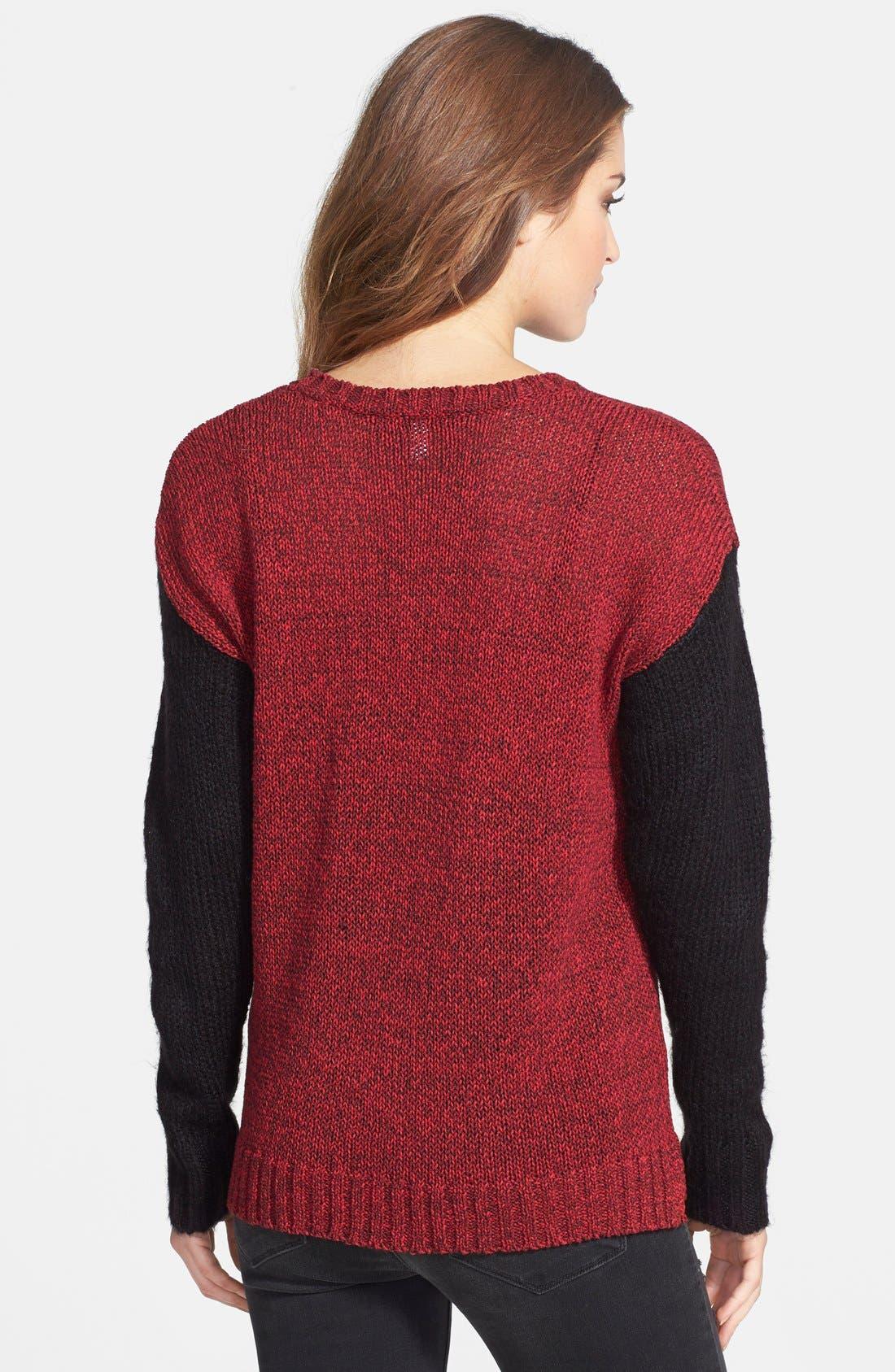 Alternate Image 2  - kensie 'Checker' Tape Yarn Sweater