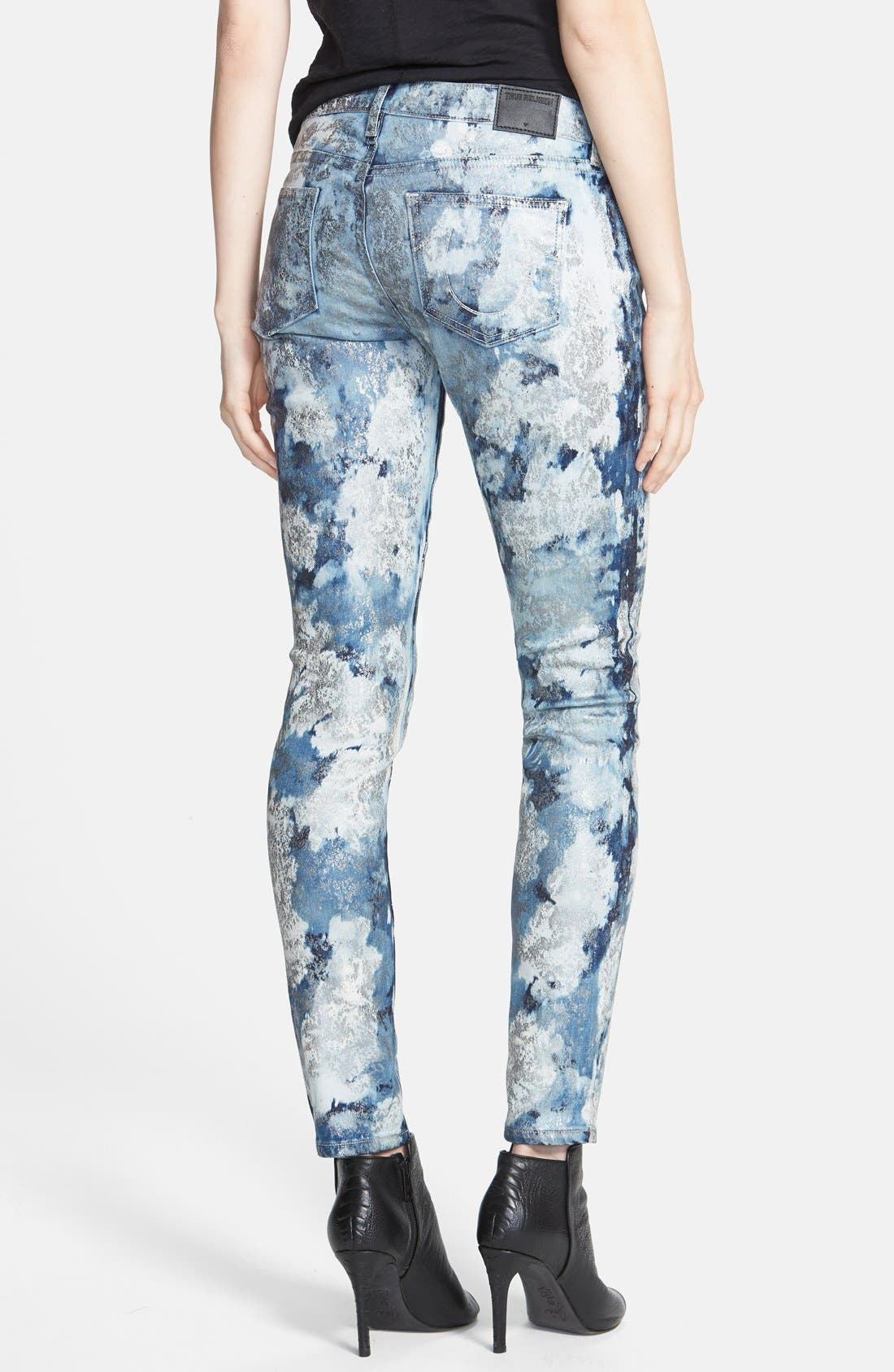 Alternate Image 2  - True Religion Brand Jeans 'Casey' Low Rise Skinny Jeans (If By Morning)