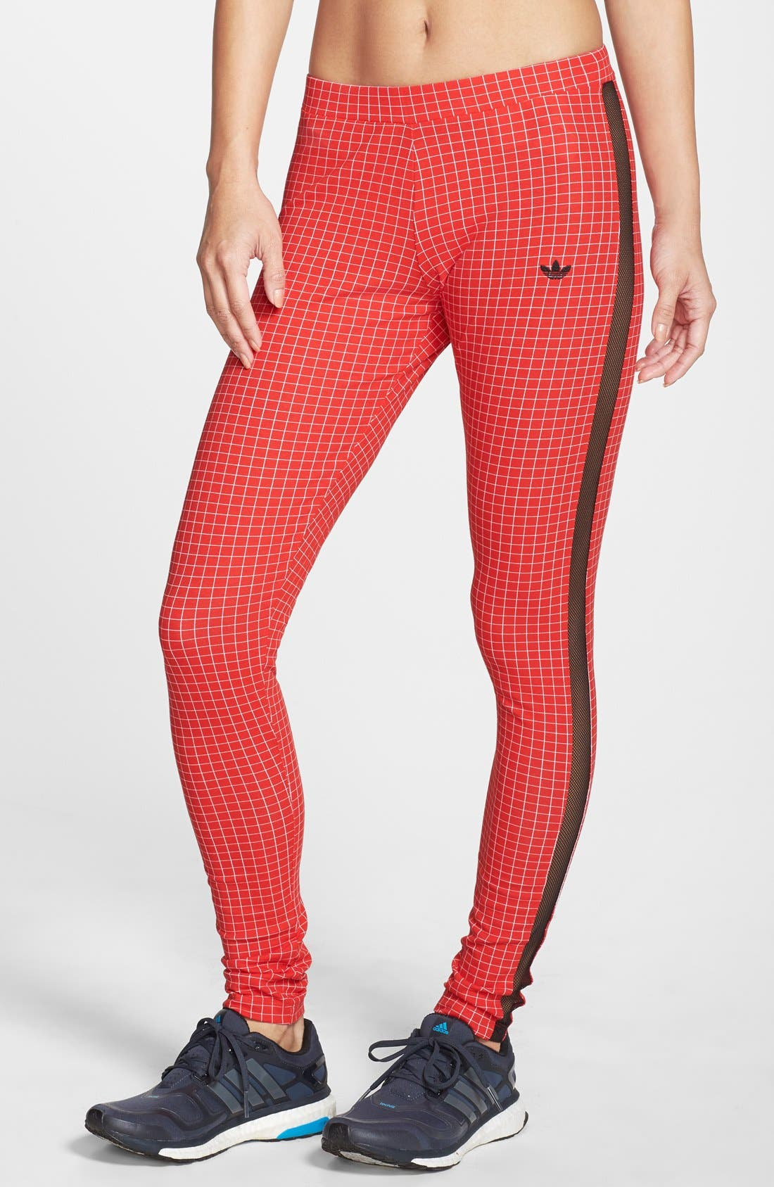 Alternate Image 1 Selected - adidas 'Modern Tartan' Leggings