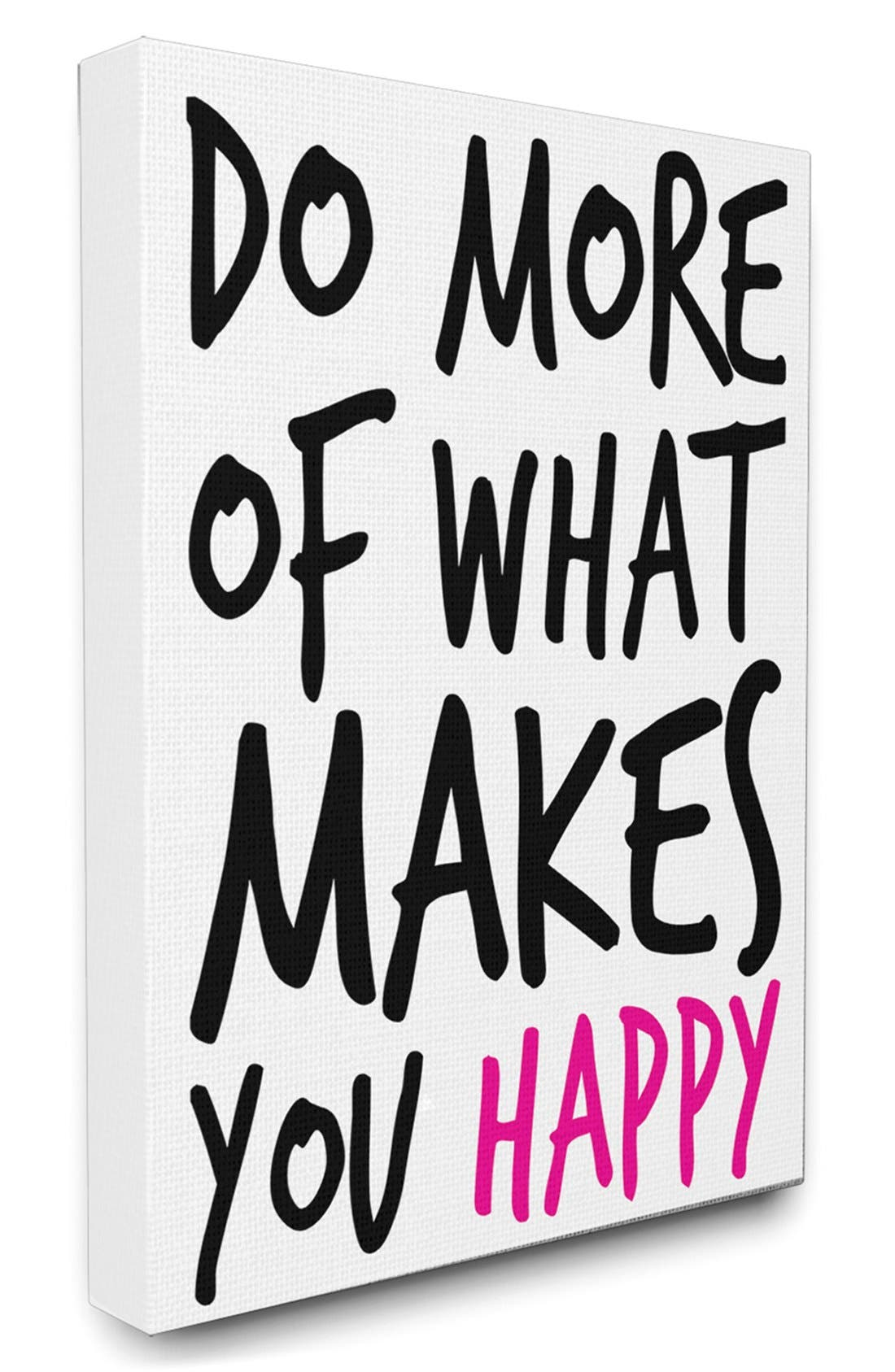 Alternate Image 1 Selected - LulusimonSTUDIO 'Do More of What Makes You Happy' Canvas Wall Art