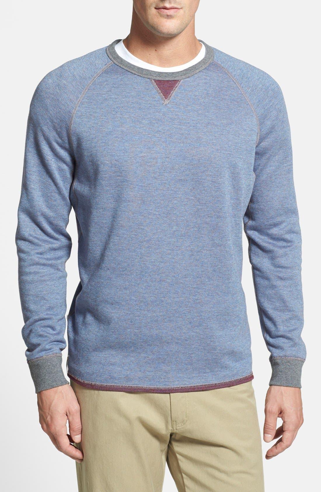 Alternate Image 2  - Tommy Bahama Denim 'Bob Twillin' Island Modern Fit Reversible Raglan Sweatshirt