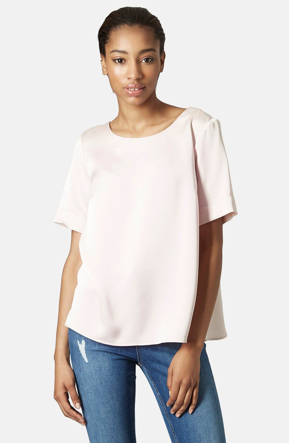 Alternate Image 1 Selected - Topshop Drape Back Tee