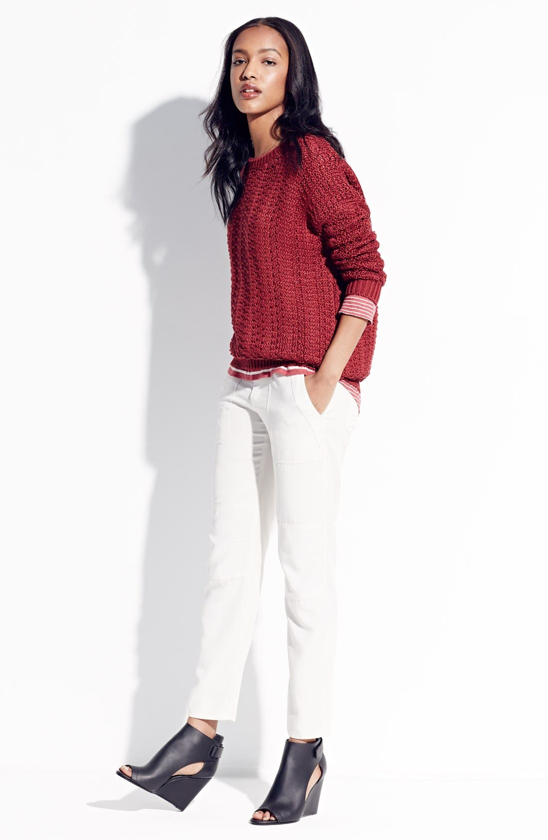 Alternate Image 5  - Vince Mercerized Textured Sweater