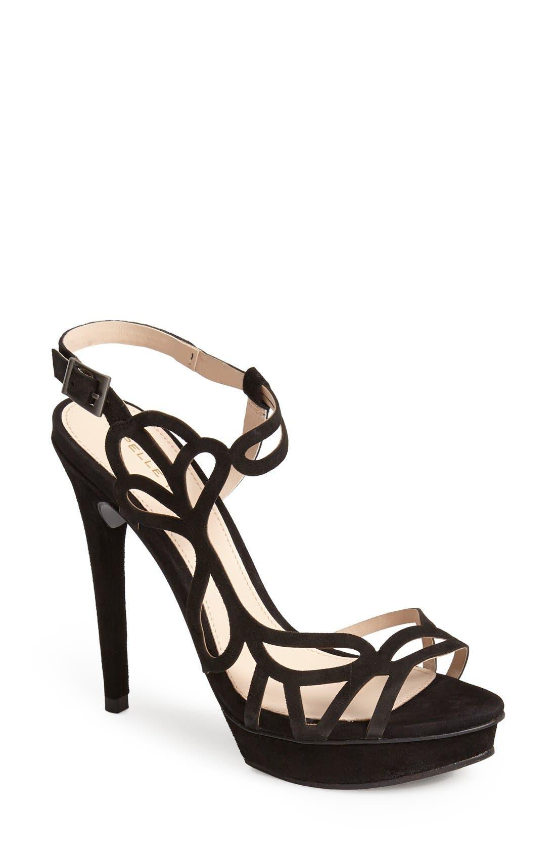 Alternate Image 1 Selected - Pelle Moda 'Fey' Suede Sandal (Women)