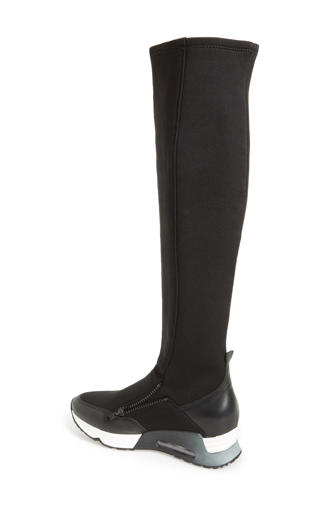 Alternate Image 2  - Ash 'Lynx' Stretch Fabric Tall Sneaker Boot (Women)