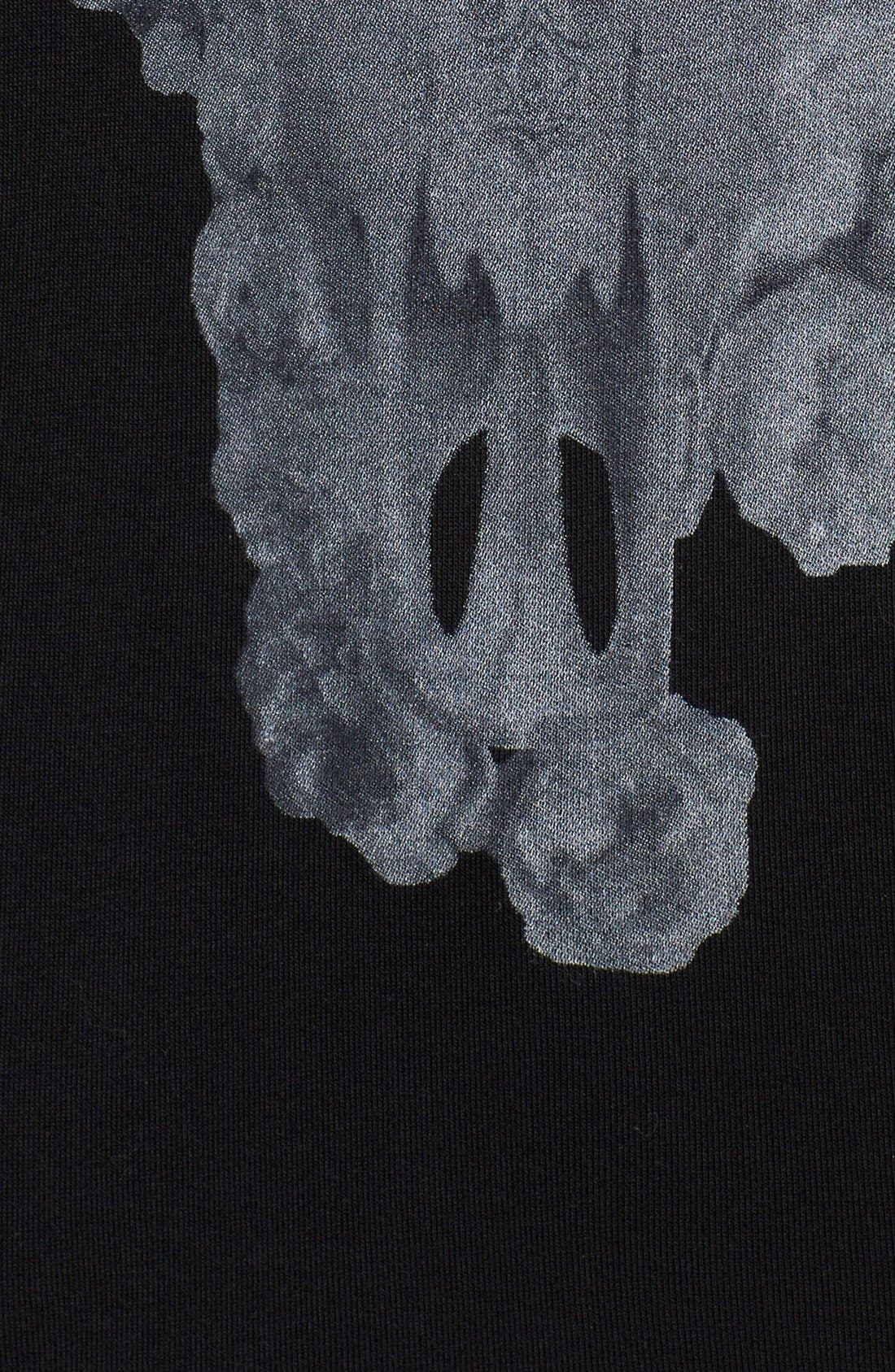 Alternate Image 3  - Haute Hippie Floral Skull Jersey Tee