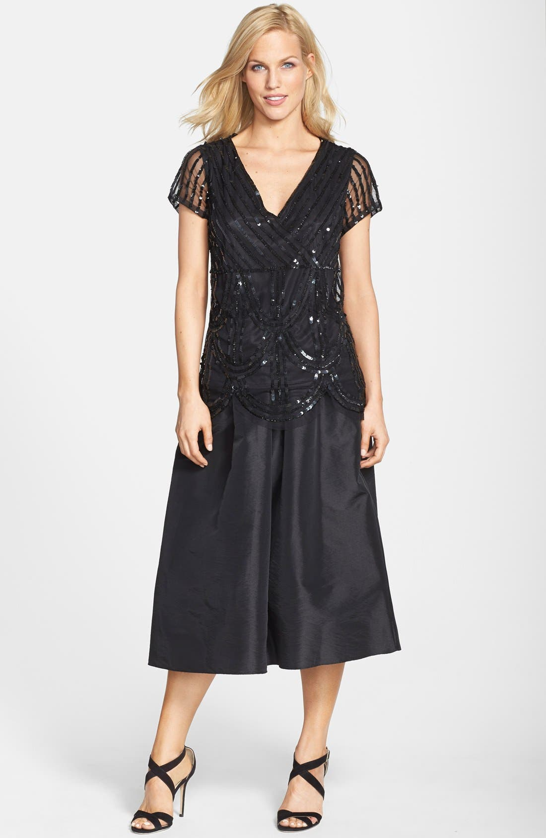 Alternate Image 5  - Marina Pleated Taffeta Midi Skirt