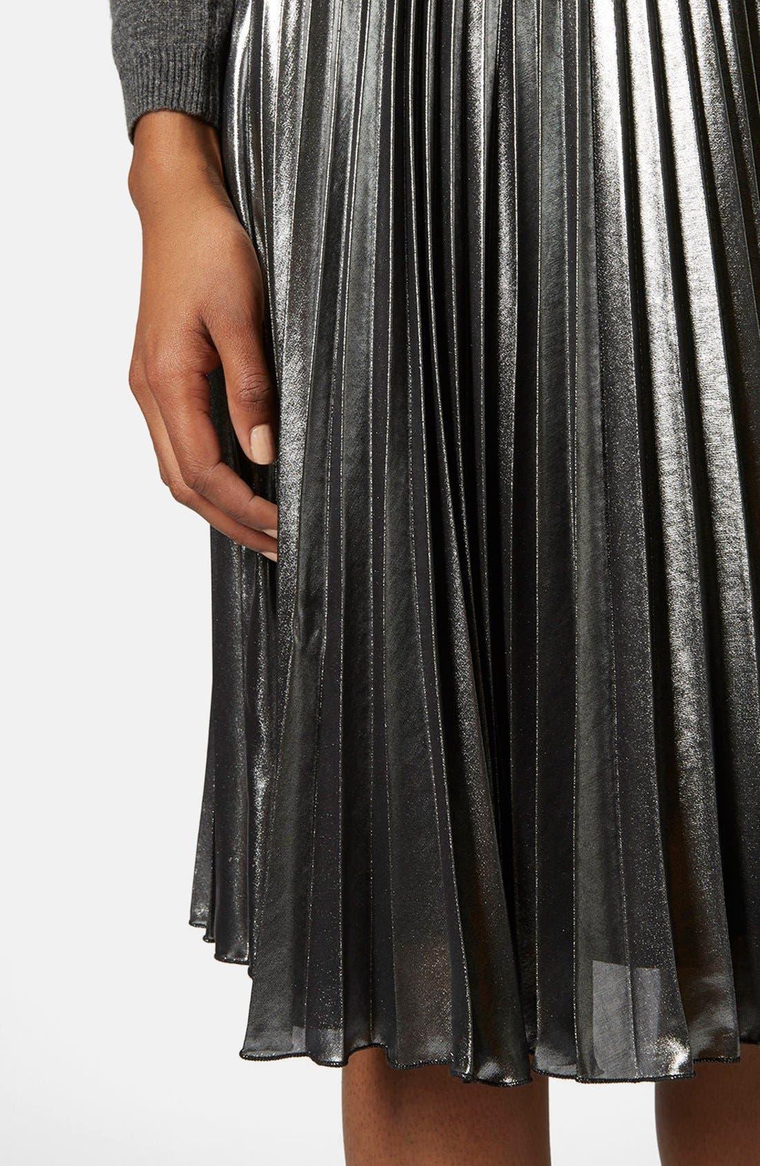 Alternate Image 4  - Topshop Pleated Midi Skirt
