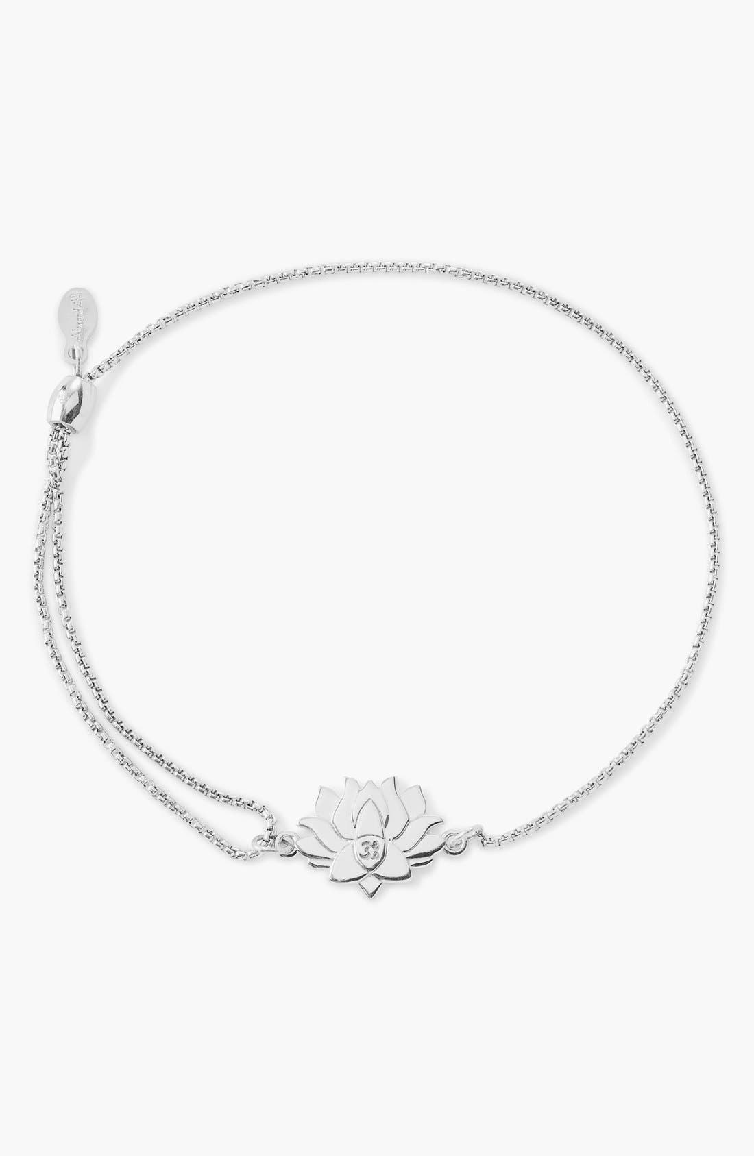 Alternate Image 1 Selected - Alex and Ani 'Providence - Lotus Peace' Pull Chain Bracelet
