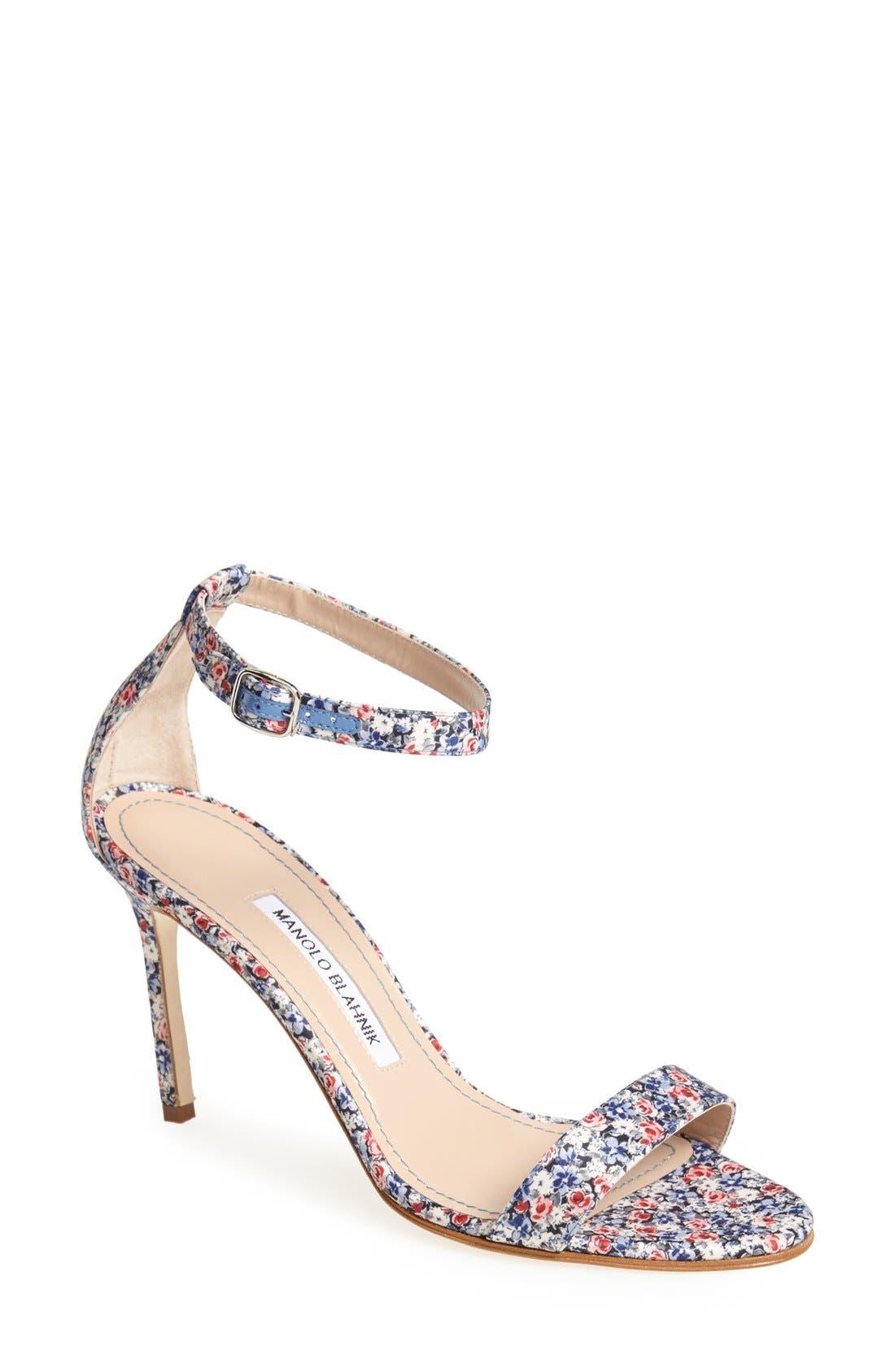 Main Image - Manolo Blahnik 'Chaos' Ankle Strap Sandal (Women)