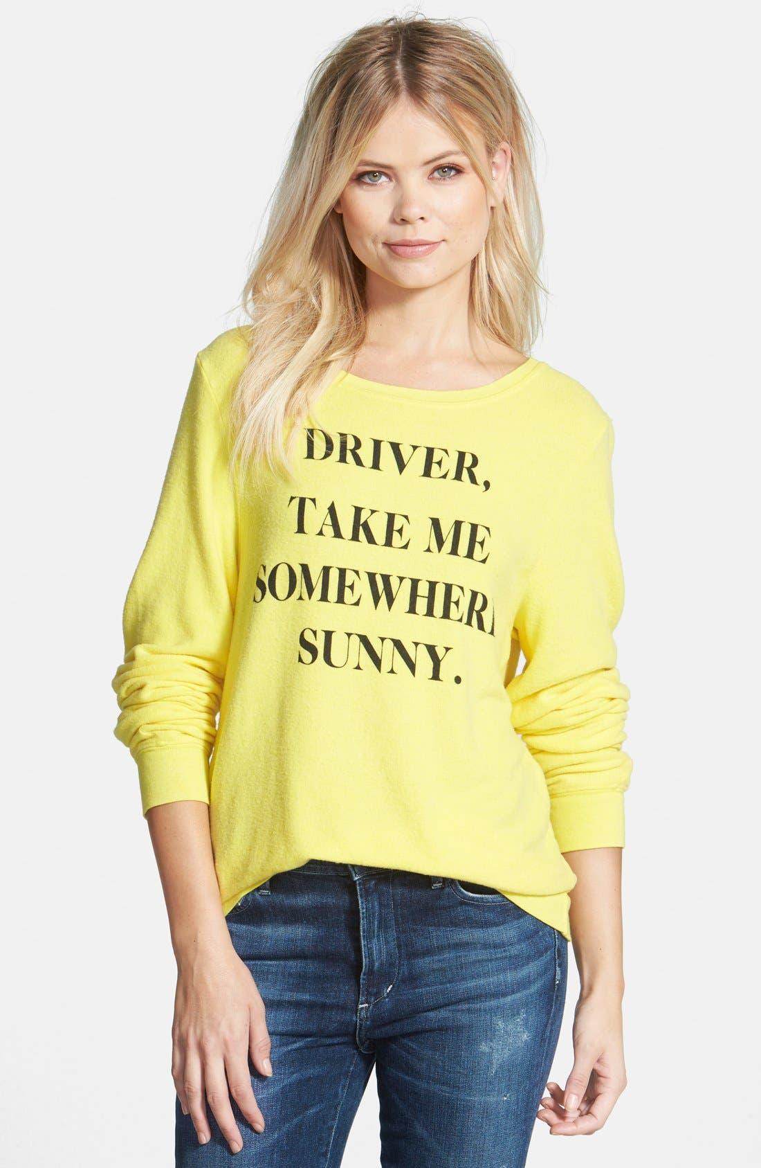 Alternate Image 1 Selected - Wildfox 'Somewhere Sunny' Sweatshirt