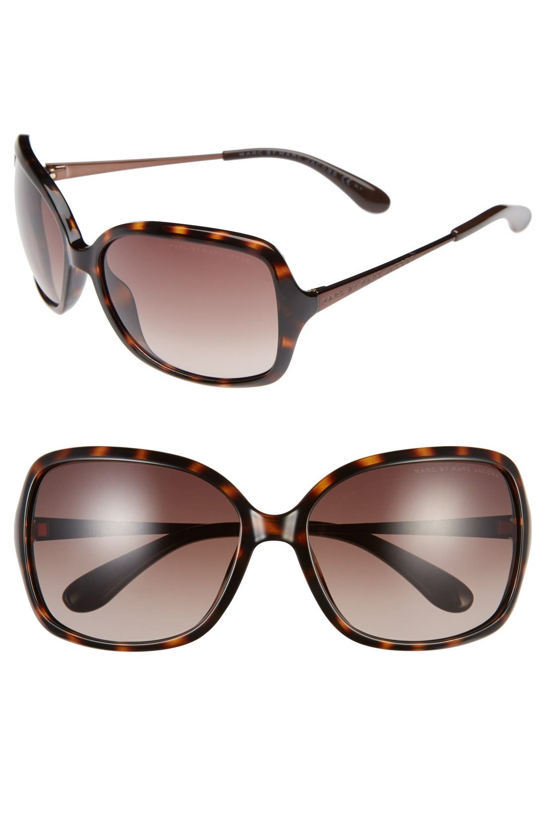 Alternate Image 1 Selected - MARC BY MARC JACOBS 59mm Square Sunglasses