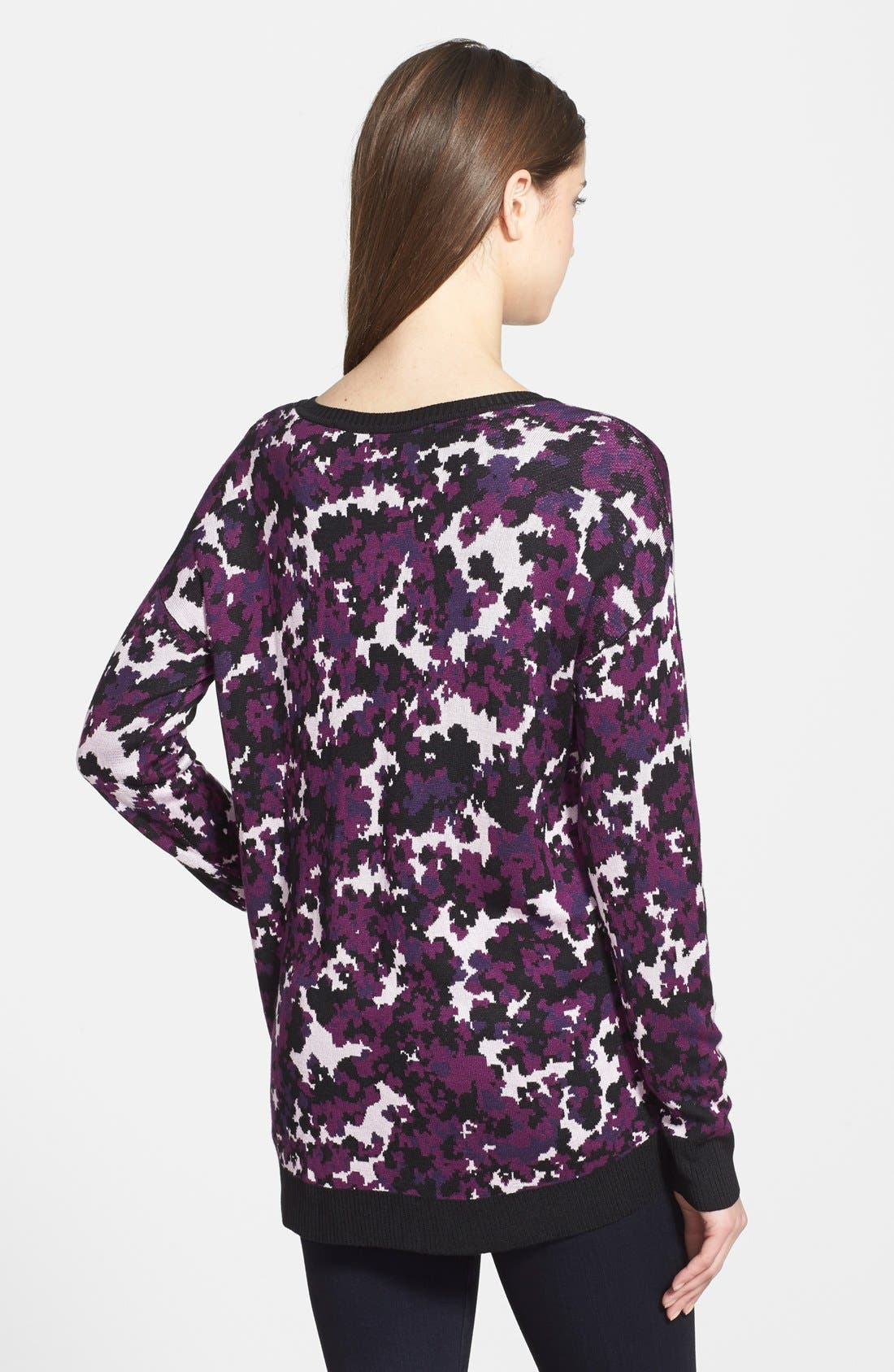 Alternate Image 2  - kensie Drapey Camo Sweater