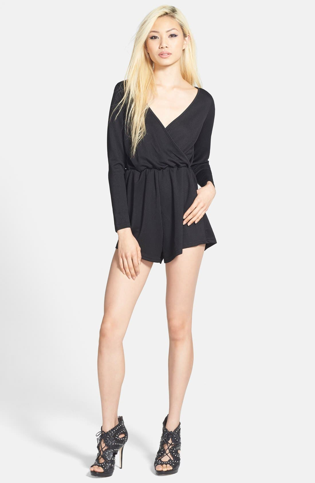 Alternate Image 1 Selected - Glamorous Wrap Front Romper