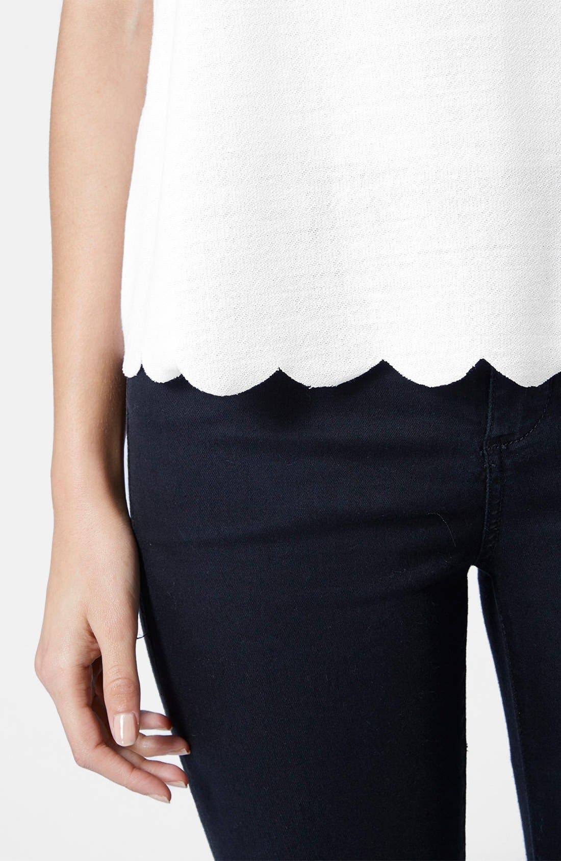 Alternate Image 5  - Topshop Scallop Frill Tee